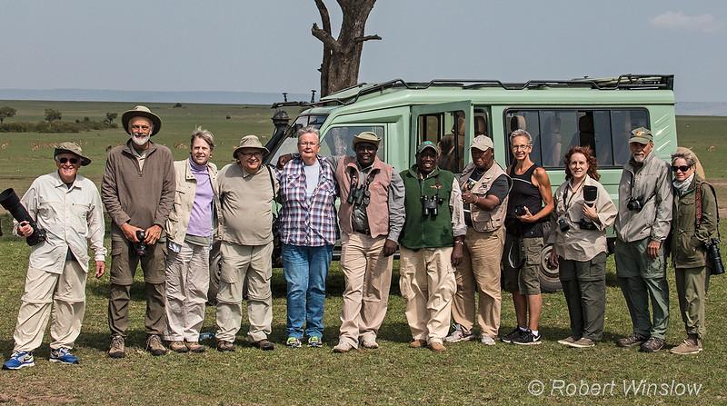 Group photo, Kenya Photo Safari, Masai Mara, Kenya, Africa