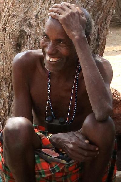 Samburu man.  Photo by Leah Bensen