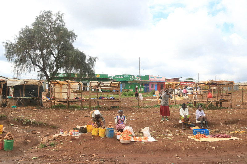 Some small kiosks selling goods by the roadside. We saw them rather frequently.  Photo by Leah Bensen