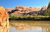 Colorado River Red Rock Reflections NW of Moab - Jane Nowak