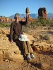 Arches Nat'l Park Utah - Karen Frair and Balanced Rock   by   Les Frair