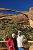 Gisela Seaman and Rick Thomas at Landscape Arch by Jane Nowak