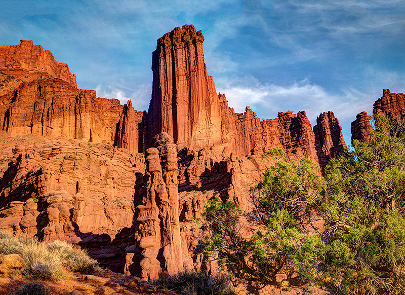 Colorado River Canyon, Fisher Towers, by Karen Frair, Monday, October 15, 2012