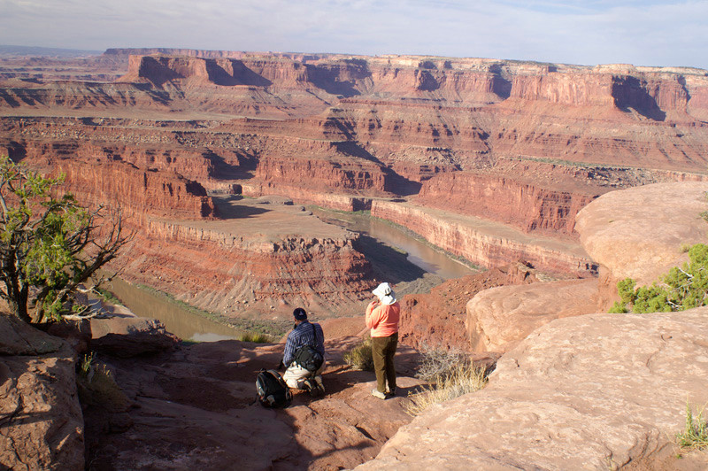 Chuck and Charleen at Dead Horse Point by Dave Milne