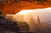Washer Woman Arch through Mesa Arch, Canyonlands NP by Martin See