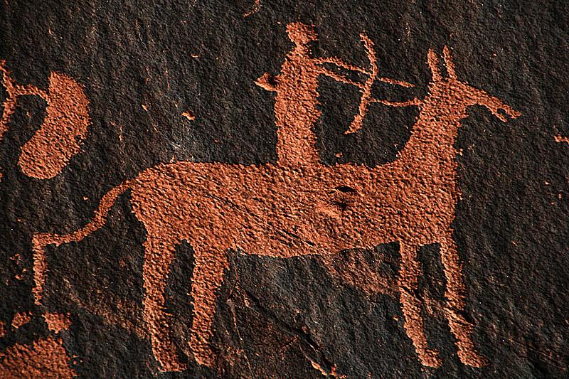 Newspaper Rock Detail by Jinnie Milne