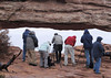 Shooting in the rain, Mesa Arch, by Yoma Ullman