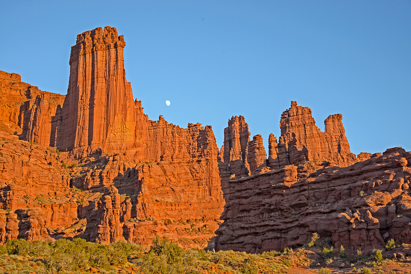 Fisher Towers at Sunset Photo by John Reckleff