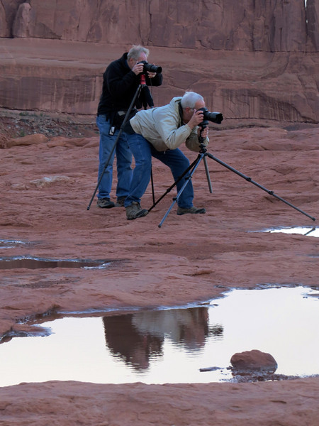Sunrise photo shoot Arches NP by Dorothy Hawley