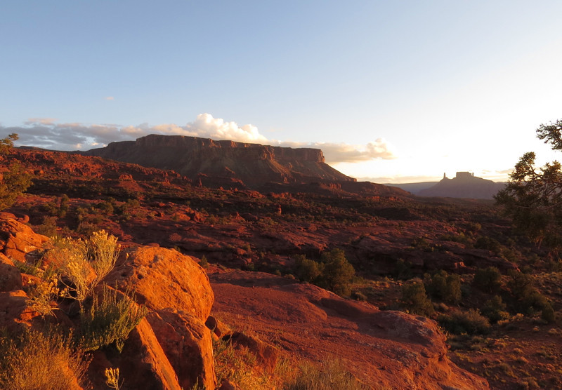 Sunset near Fisher Towers by Dorothy Hawley