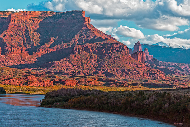 Fisher Towers from Colorado River Photo by John Reckleff