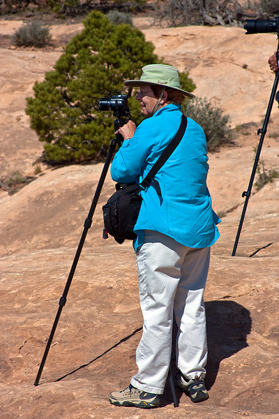 Joyce Photographing, Needles District, Canyonlands National Park, Utah