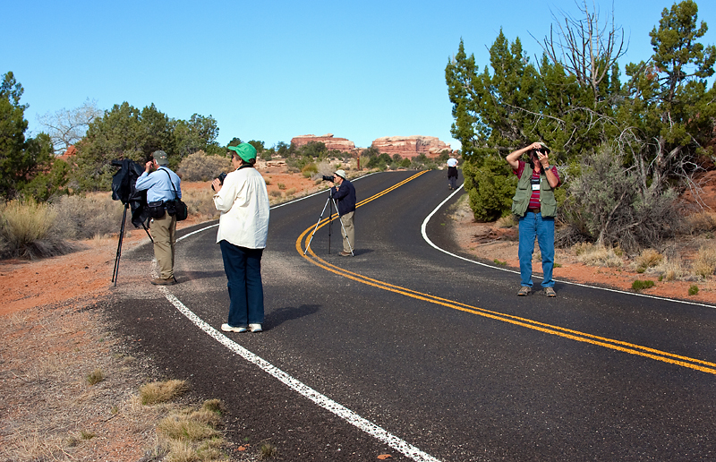 Photographing, Needles District, Canyonlands National Park, Utah