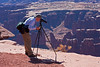 Bob Photographing at Grand View Point, Canyonlands National Park, Utah