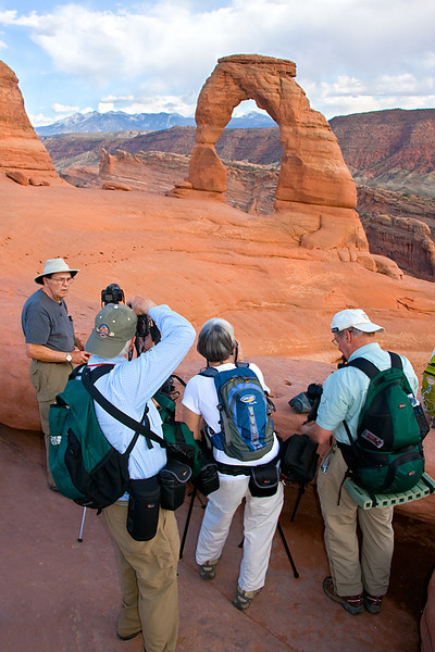 Photographing at Delicate Arch, Arches National Park, Utah 0490