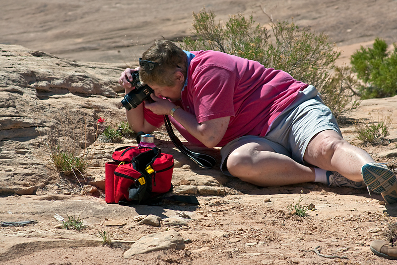 Sandy Photographing, Needles District, Canyonlands National Park, Utah