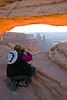 Jan Photographing at Mesa Arch, Canyonlands National Park, Utah