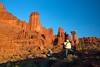 Photographing at Fisher Towers, Utah