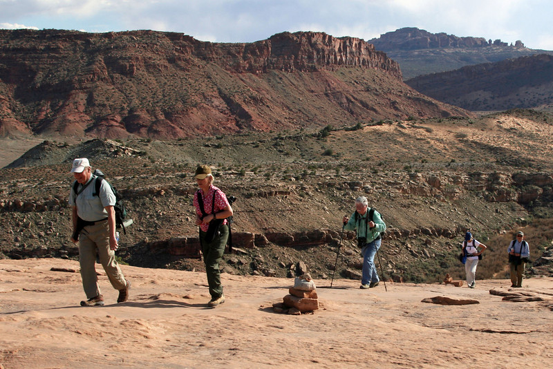 Hiking the Slick Rock Trail to Delicate Arch - Photo by Robert Bladow