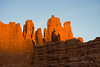 Fisher Towers at sunset, photo by Jim Moore