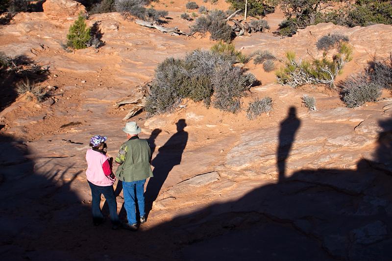 Ron and Sharon and Robert's Shadow at Mesa Arch, Canyonlands National Park, Utah