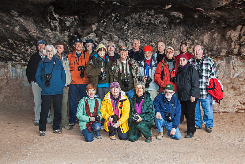 Group at Cave Spring, Canyonlands National Park, UT