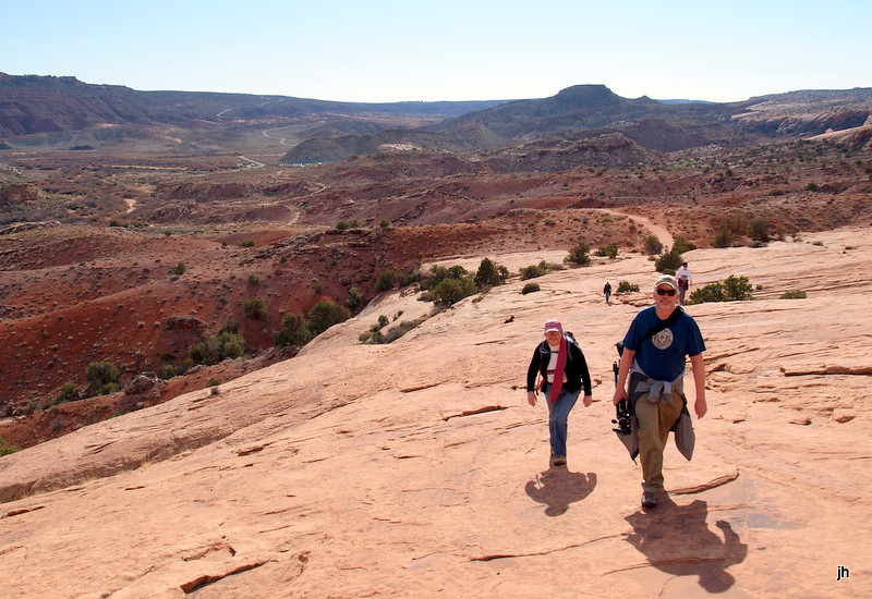 When are we going to get there -  hike to Delicate Arch - bu Jay Hansell