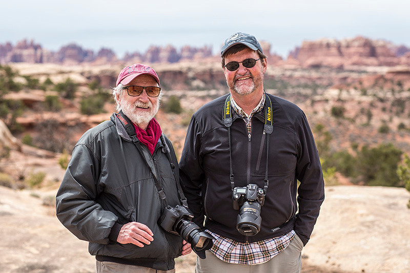 Robert and Bill on Elephant Hill.  Photo by Ryan Kirkpatrick