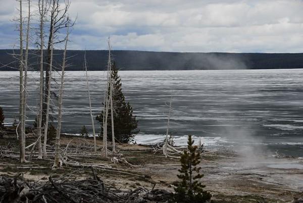 Yellowstone Lake, still frozen in June, by Gary Whitney