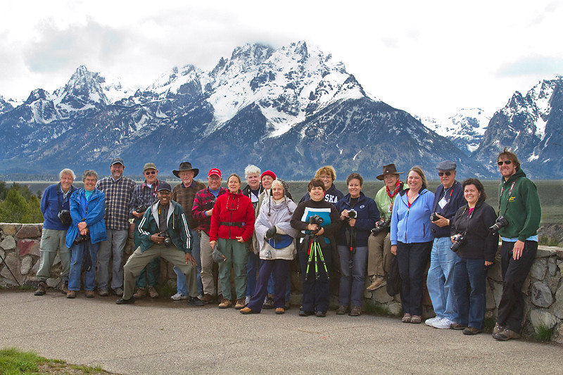 Group at Snake River Overlook photo by Robert Winslow