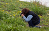 Linda Photographing Flowers