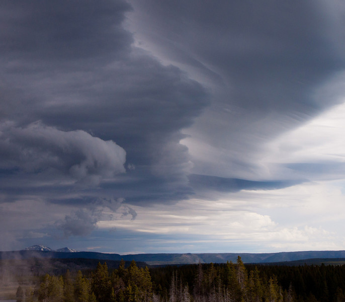 A Storm is Coming, Yellowstone, by Karen Geisel