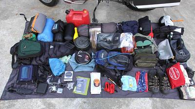 Trip gear close-up