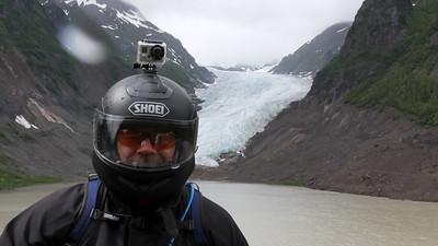 Craig with GoPro at Bear Glacier