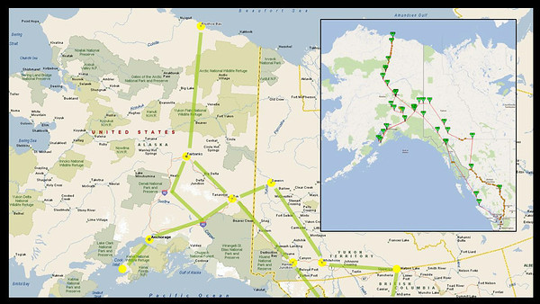 The route taken. Inset image shows Ok and tracking route via SPOT & Spotwalla
