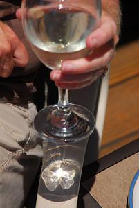 See Jeri's Sauvignon Blanc creating the pansy shadow.