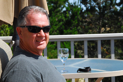 Todd Kennedy relaxing on the deck.  Looking cool with some very neat shades.