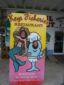 Lunch at Keys Fisheries in Marathon, Florida