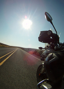 Westbound on Route 86, temp 101F.