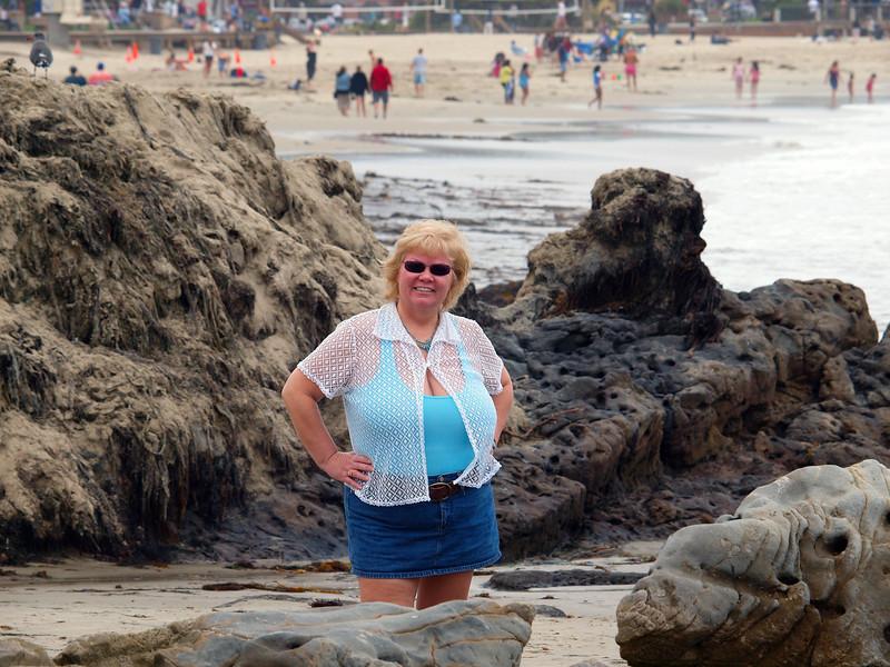Nancy at Laguna Beach - 6 Sept 2010