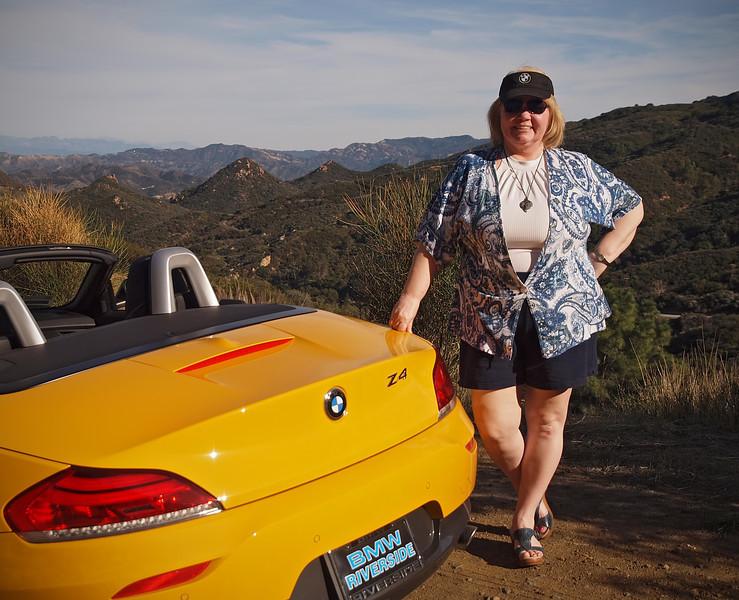 Nancy and the Rumble Beast in Malibu Canyon - 29 Jan 2012