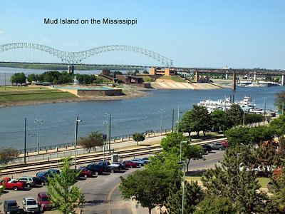 The View from our friend Phil's condo on the Mississippi in Memphis