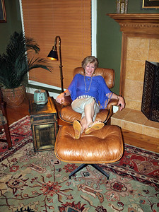 Linda chillin' out at Phil's place