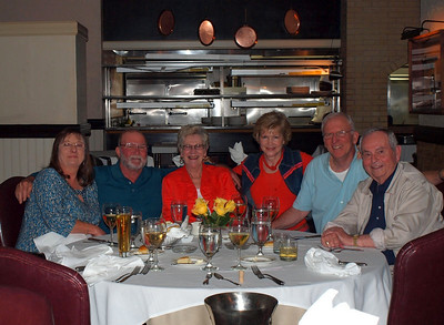 The gangs all here!  Dinner at Fairbanks Steakhouse in Tunica