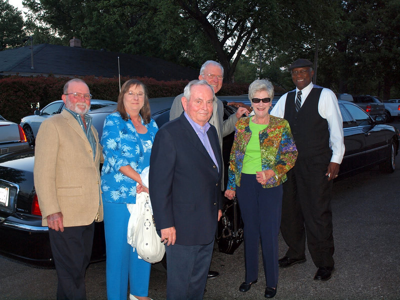 Here we all are out in front of Folks Folly with our limo driver.
