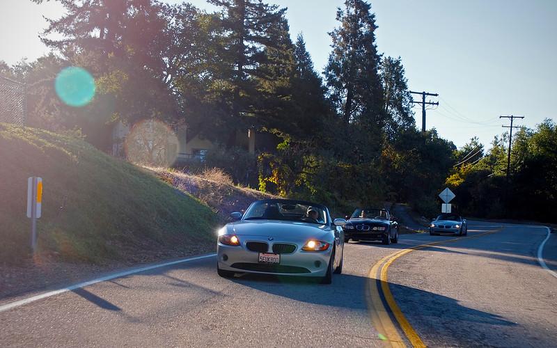 Heading up the hill to Oak Glen - 30 Sept 2012