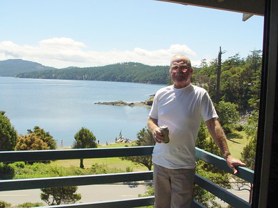 Balcony from our room - Eastsound, Orcas Island