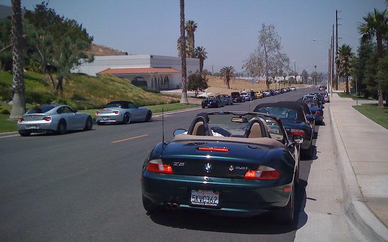 Getting set to convoy to lunch - Z8's in lead and the Bumble Bee in the rear - 8 June 2008
