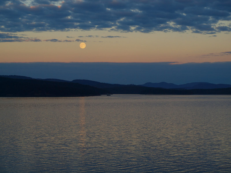 A beautiful moon from our balcony at Robinson Cove house