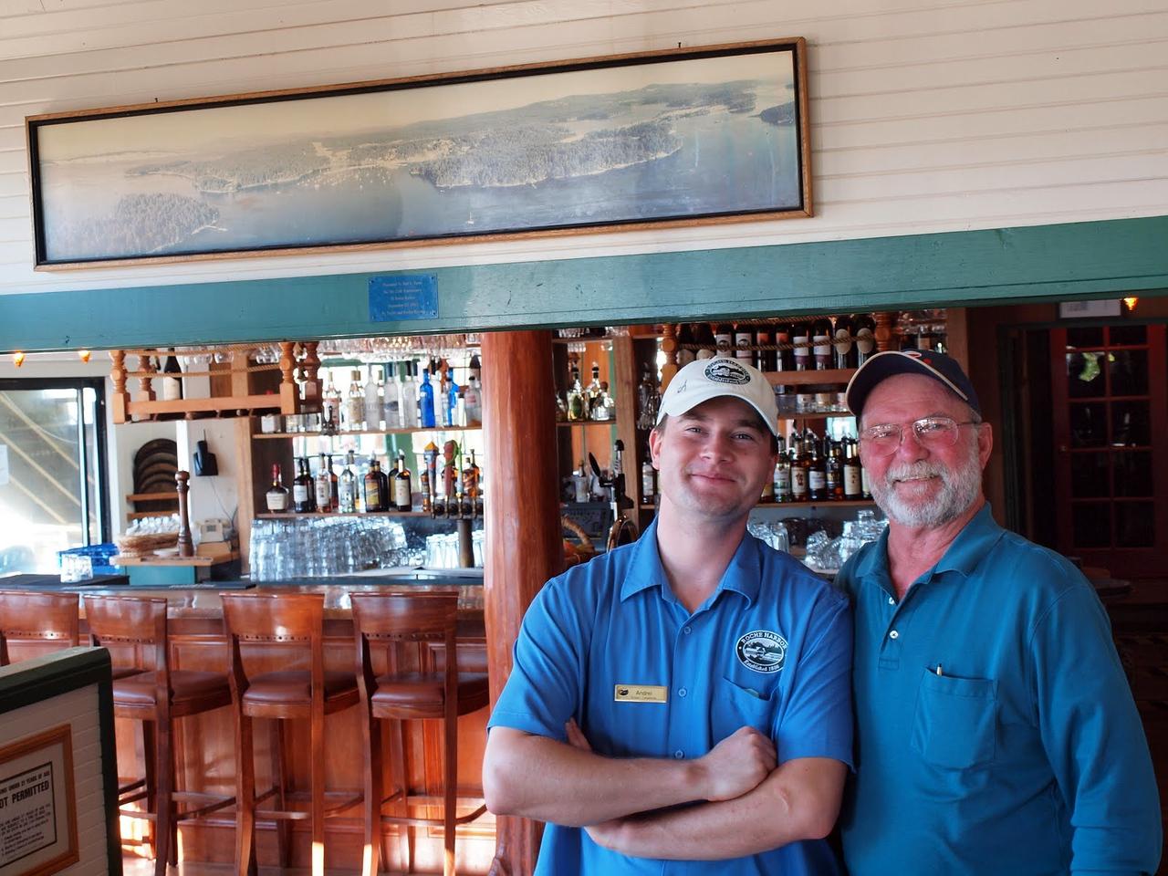 Madronna Bar & GrillRoche Harbor, San Juan IslandThat's our server and David